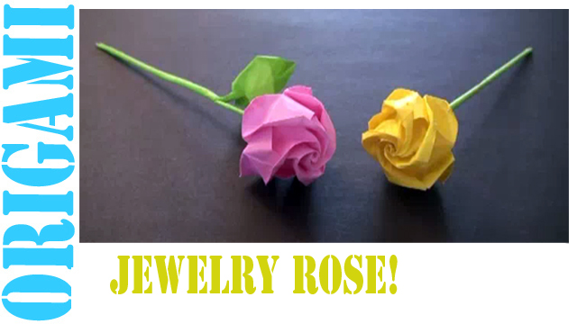 How to make an Origami Jewelry Rose!