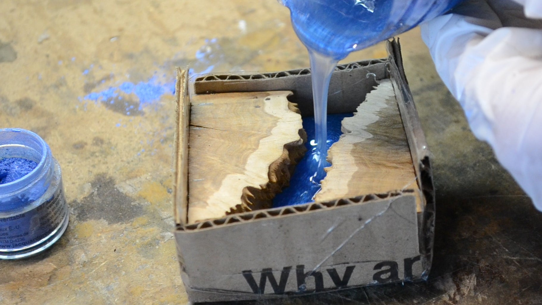 Pouring the Resin
