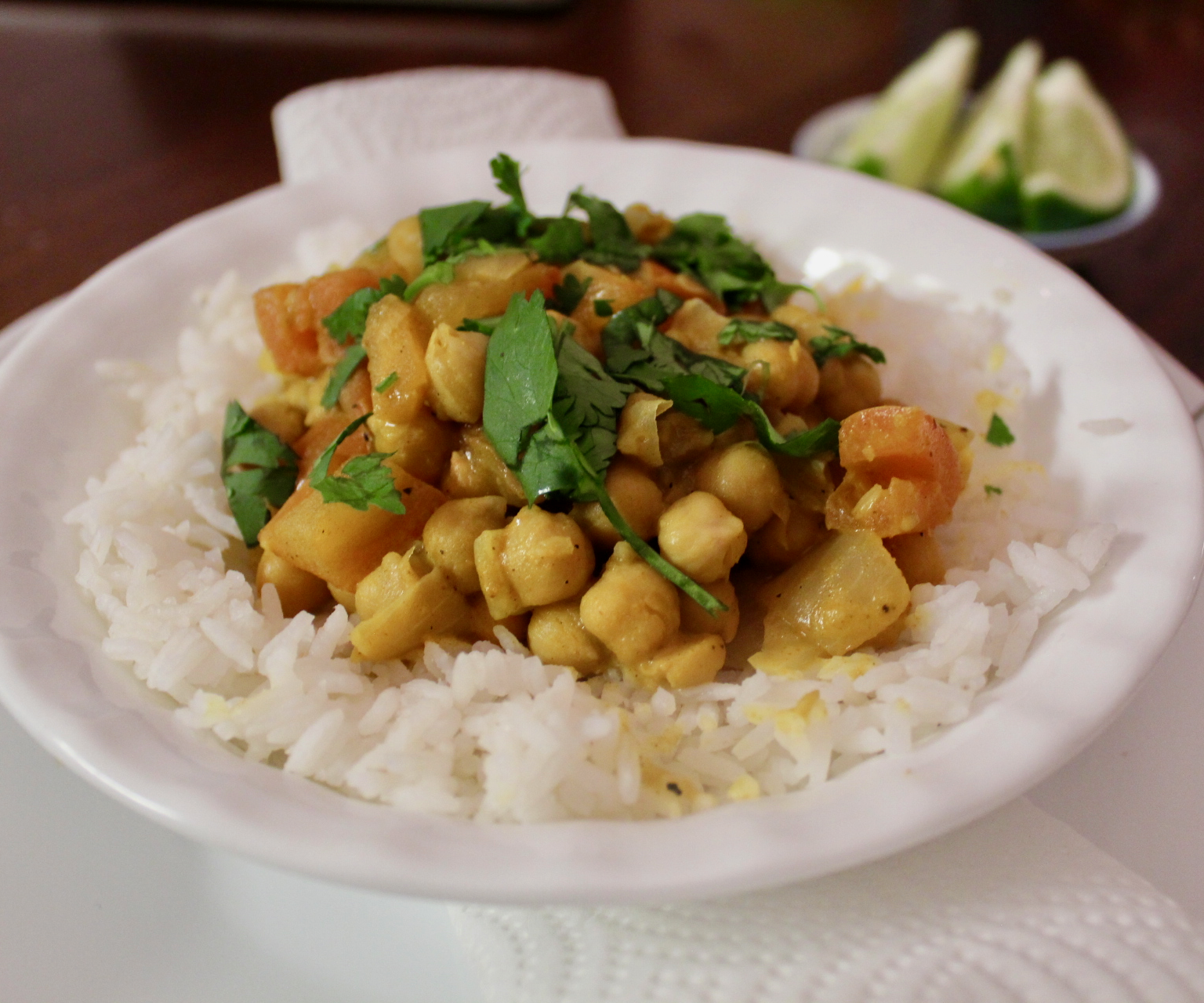 Creamy Coconut Chickpea Curry (Vegan and Gluten Free)
