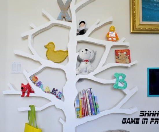 Laser Cut Tree Bookshelf