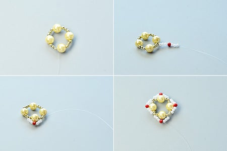 Instruction 1 on How to Make the Earrings: