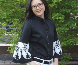How to Refashion a Shirt With Statement Sleeves