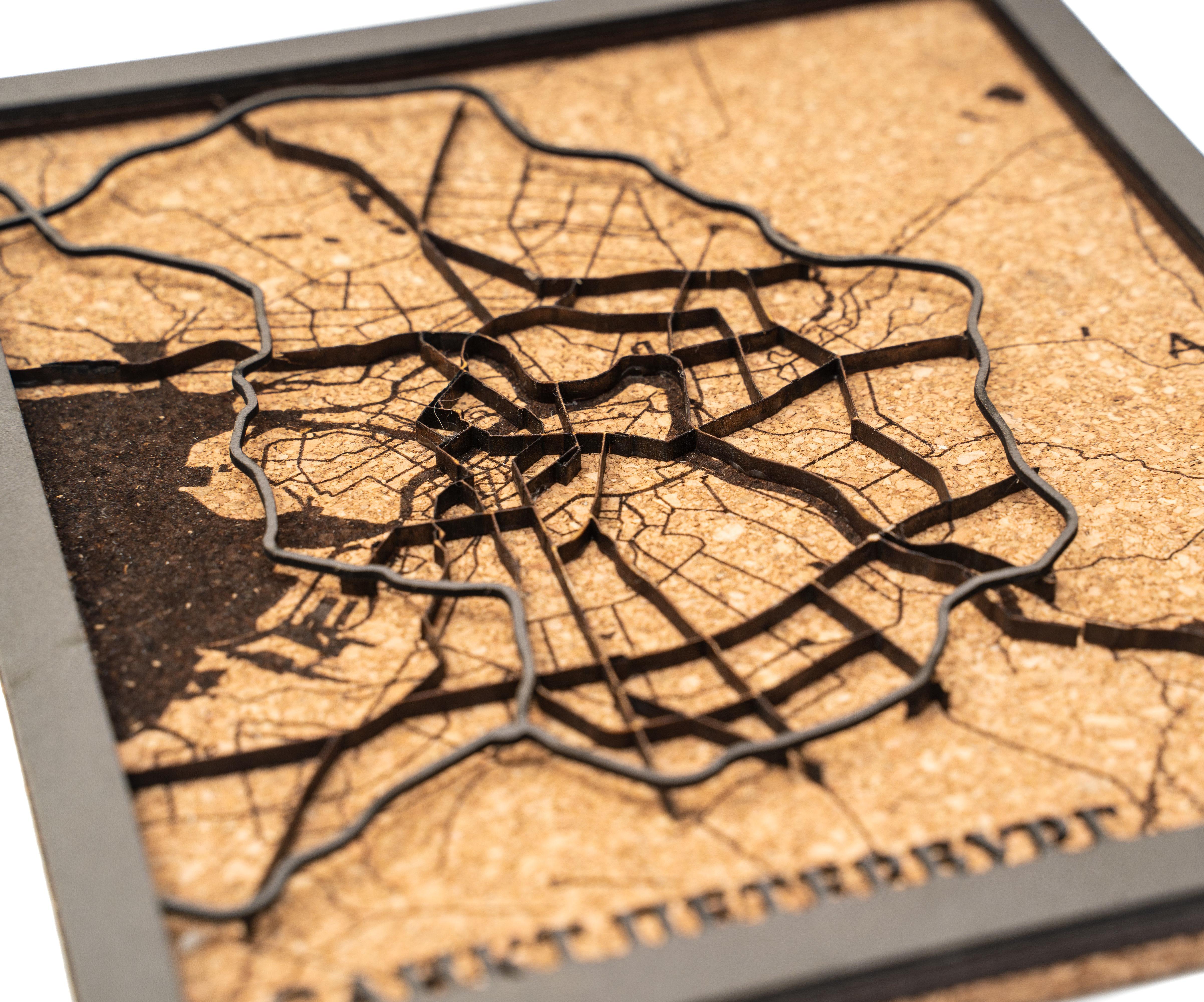 Saint-Petersburg Multi-layer Wooden Map
