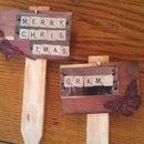 Lasers + Scrabble = Garden Markers for Grandma