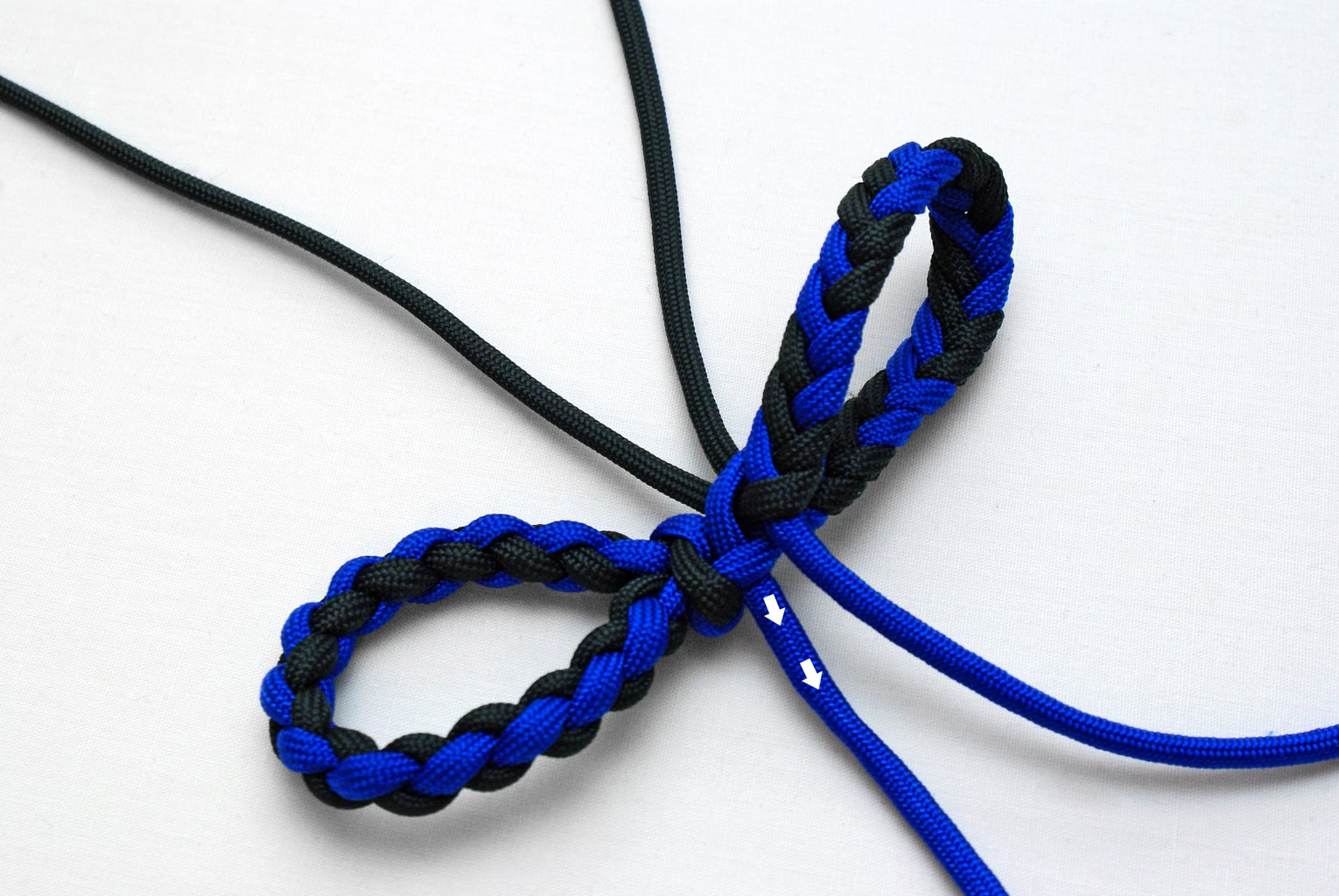 Making a Loop and Preparing the Strands for the Manrope Knot