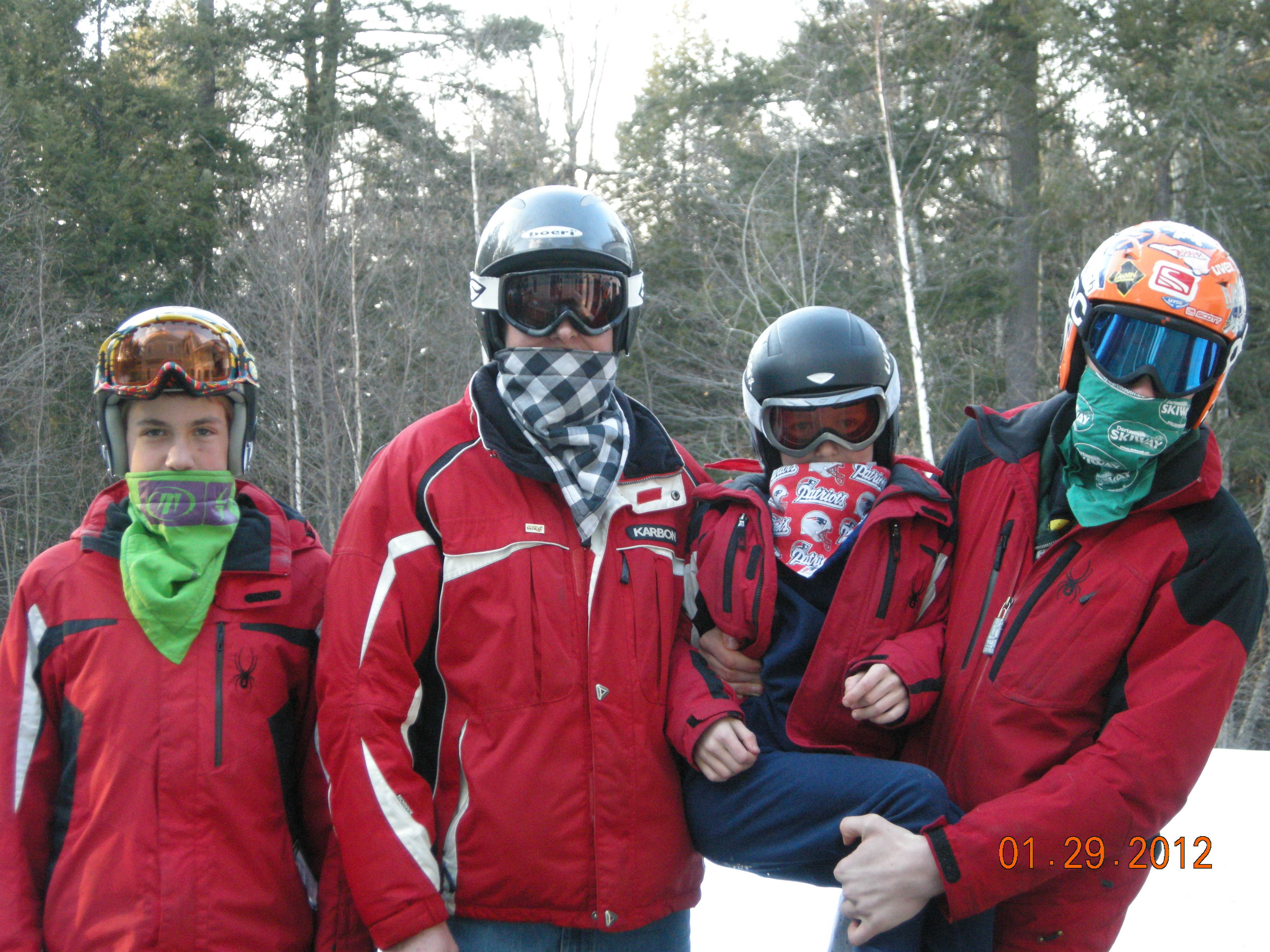 Fleece Lined Bandanas:  How to prevent frostbite while enjoying snow sports