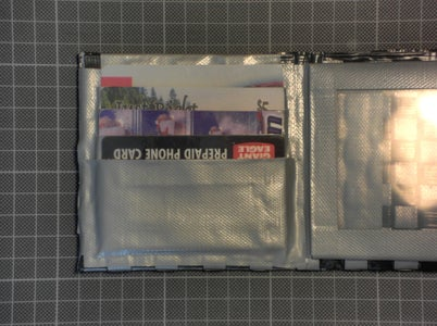 Cover the Sticky Parts / Finish the Credit Card Slots