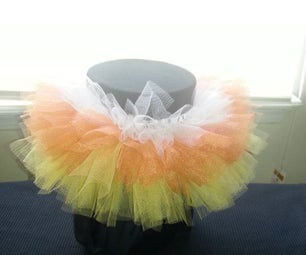 EASY Candy Corn Halloween TuTu for Baby/Toddler