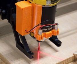用于CNC对准的激光指南
