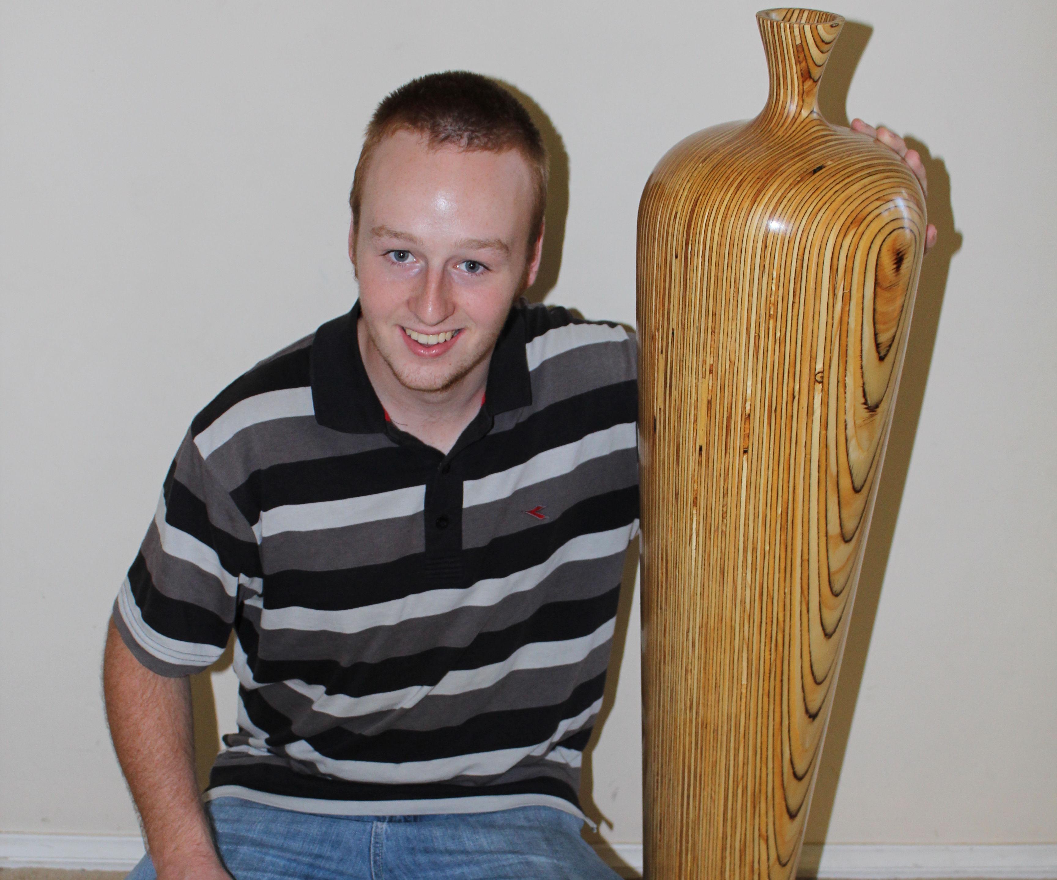 Giant plywood vase