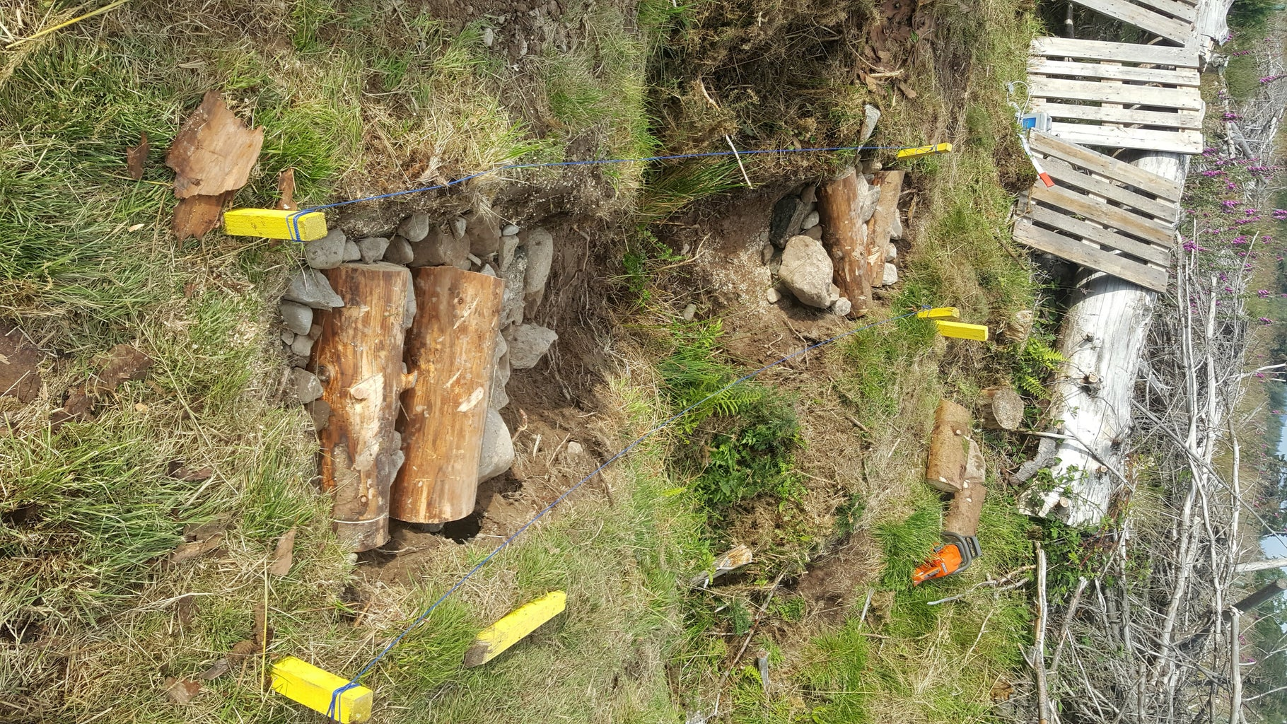 Founfdation Drainage and Restrainer Logs
