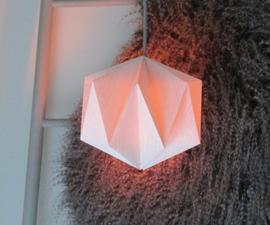 Origami: Geometric Paper Lamp.