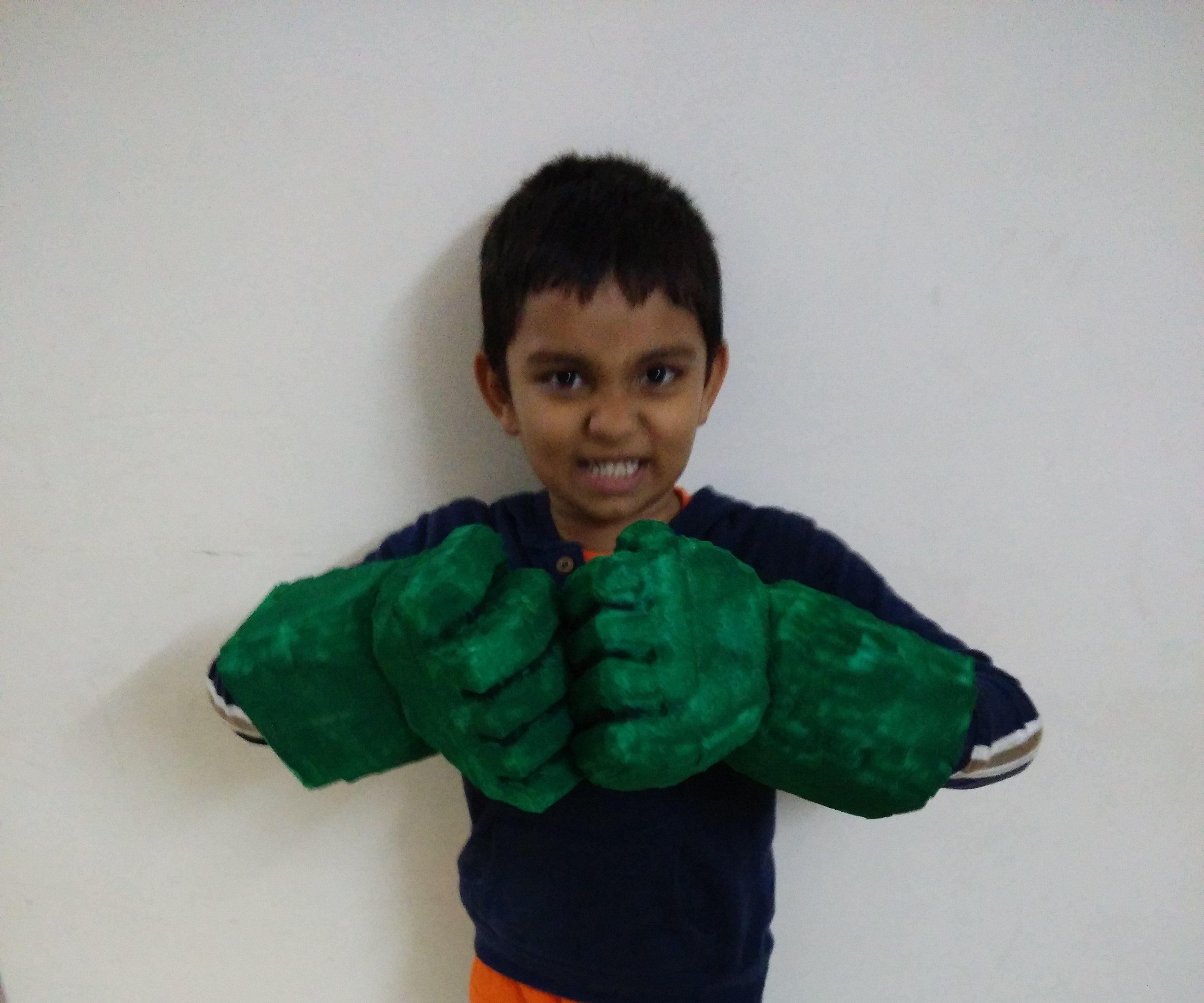 Make Hulk Smash Hand Gloves at Home