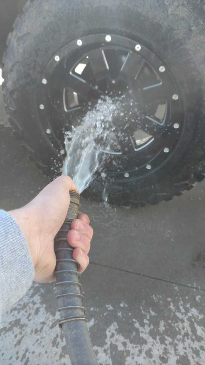 Rinse Your Wheel.