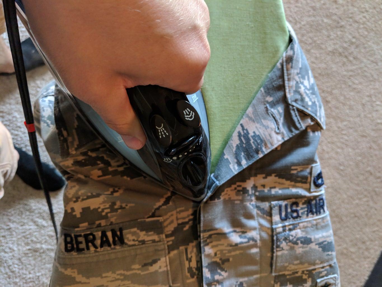 Iron the ABU Coat Collar