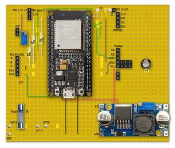 Vero Board Layout 38 Pin ESP32
