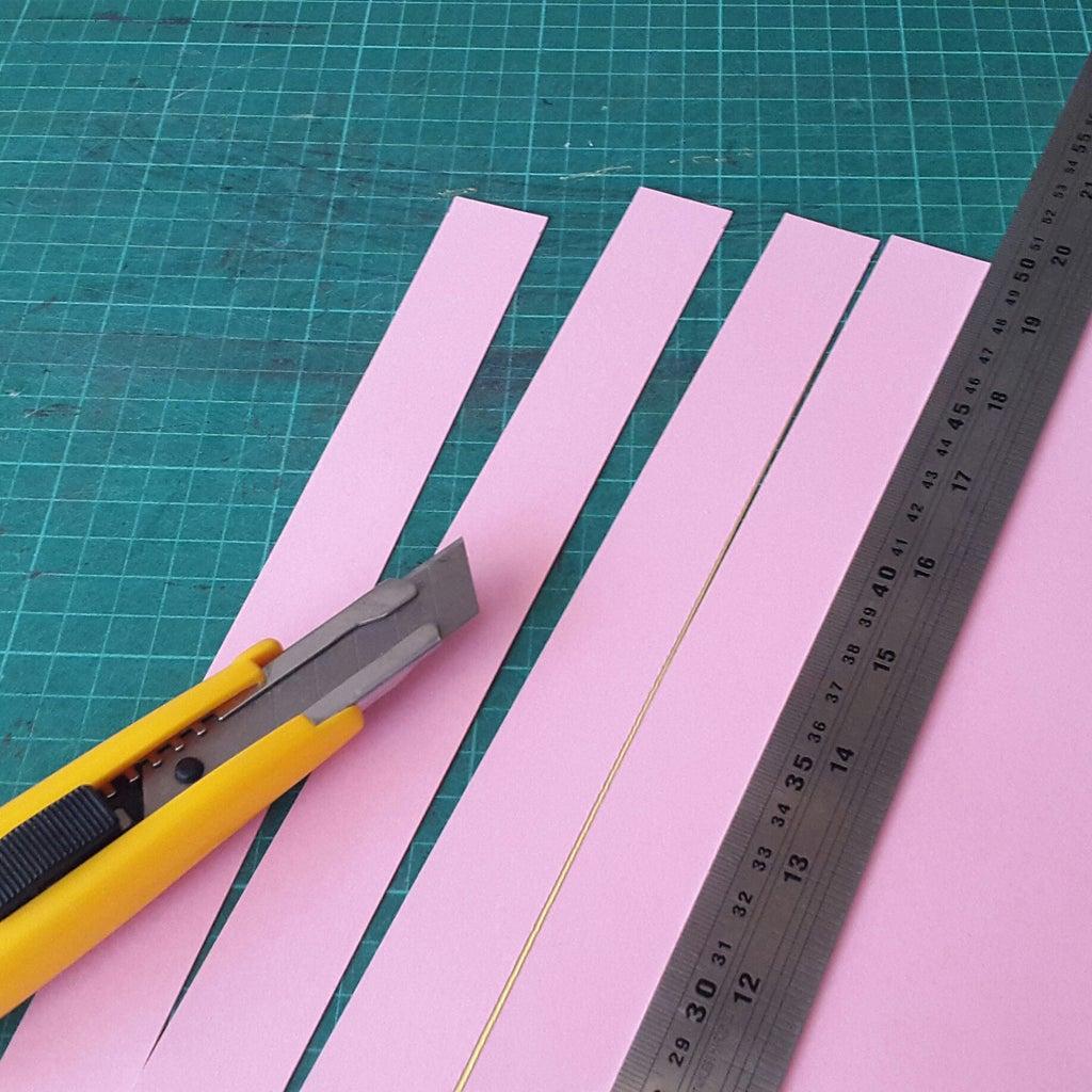 Cut Paper Strips
