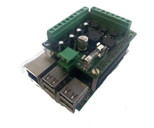 Raspberry Pi Isolated GPIO Board With 12-24VDC to 5VDC Power Supply