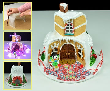 ♡ Polymer Clay Sweet Candy House ♡