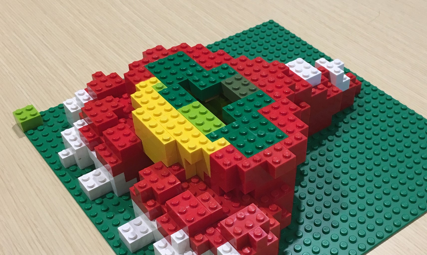 Building Your Design - Tip 6: Save Bricks by Filling the Inside With Leftover Colors