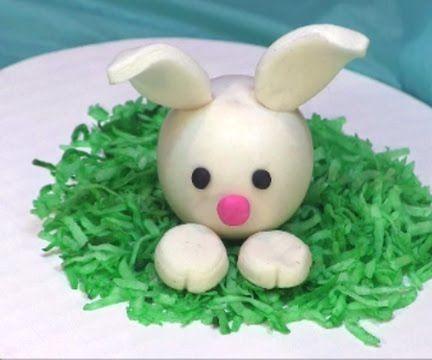 DIY Fondant Bunny Rabbit Cake Topper