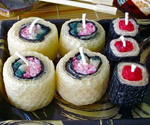 Beeswax Sushi Candles