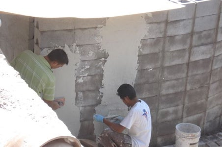 Wall Stack and Plaster