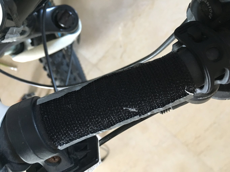 Adding Velcro to the Bike