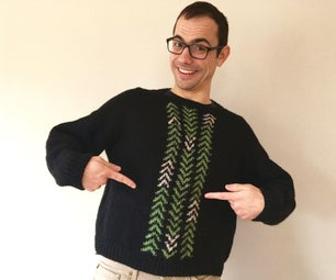 Hand-knit Adult Sweater