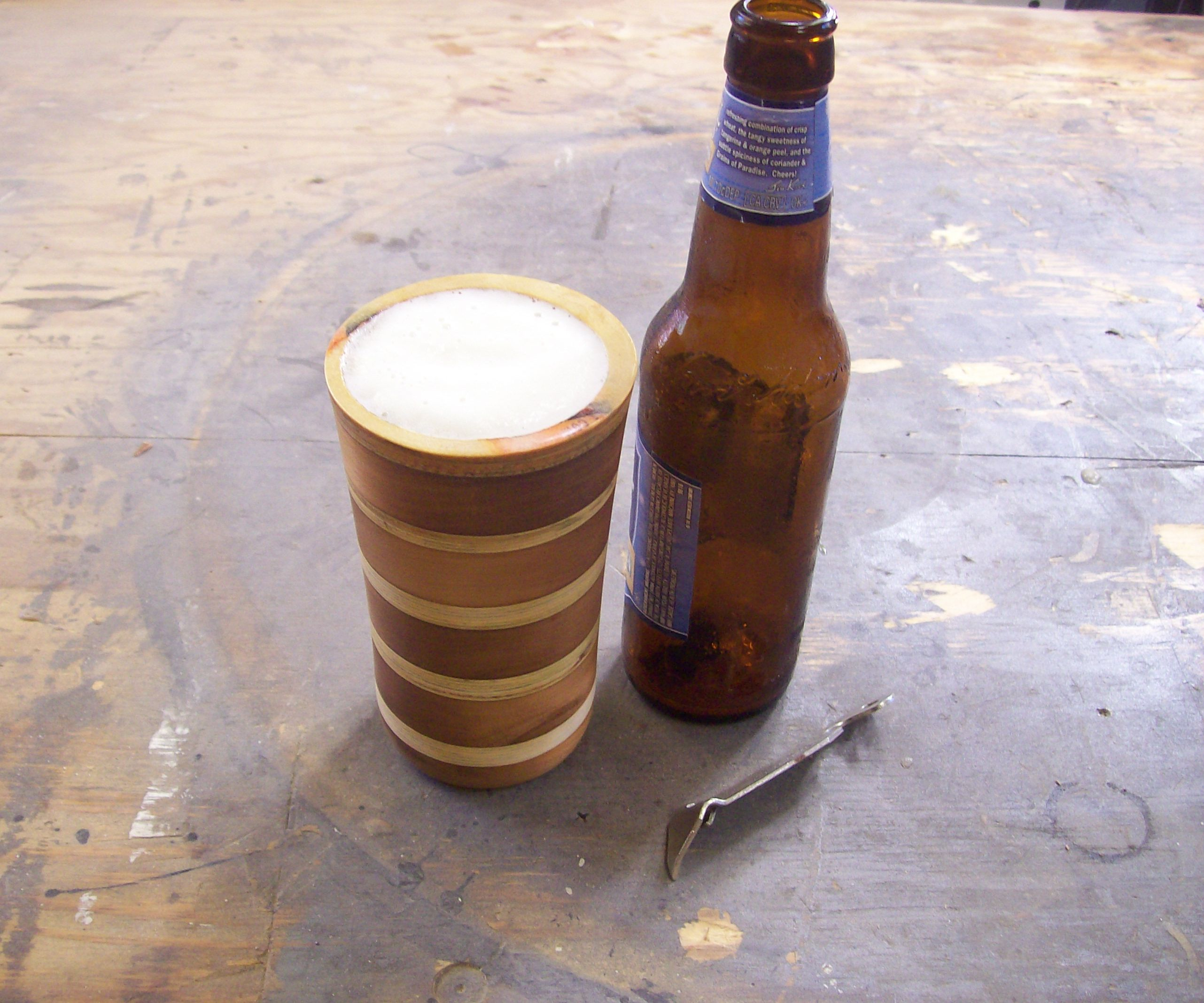 What If You Made A Beer Mug From Recycled Coasters