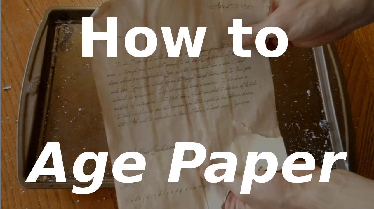How to Age Paper