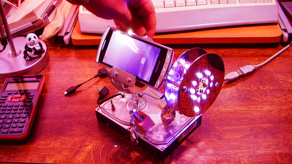 Hard-Drive Hacked to a Hidden Drive,Phone Stand & LED Set