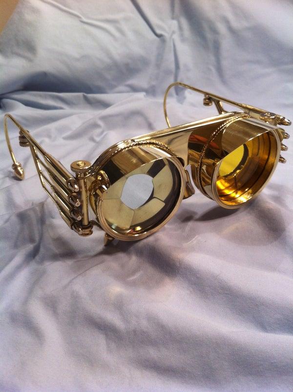 Steampunk Goggles Iris With Interchangable Lenses