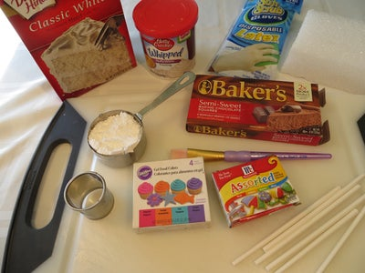 Ingredients and Tools (for the Rainbow Cake Pop)