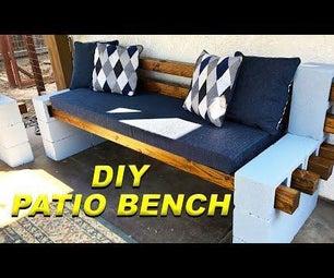 DIY Easy CinderBlock露台长凳