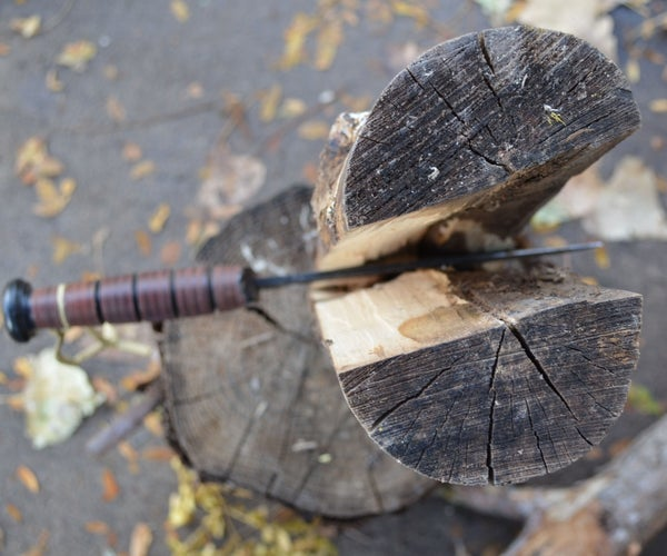 How to Split Firewood...With a Knife
