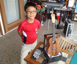 Ukulele Stands From Cardboard Boxes