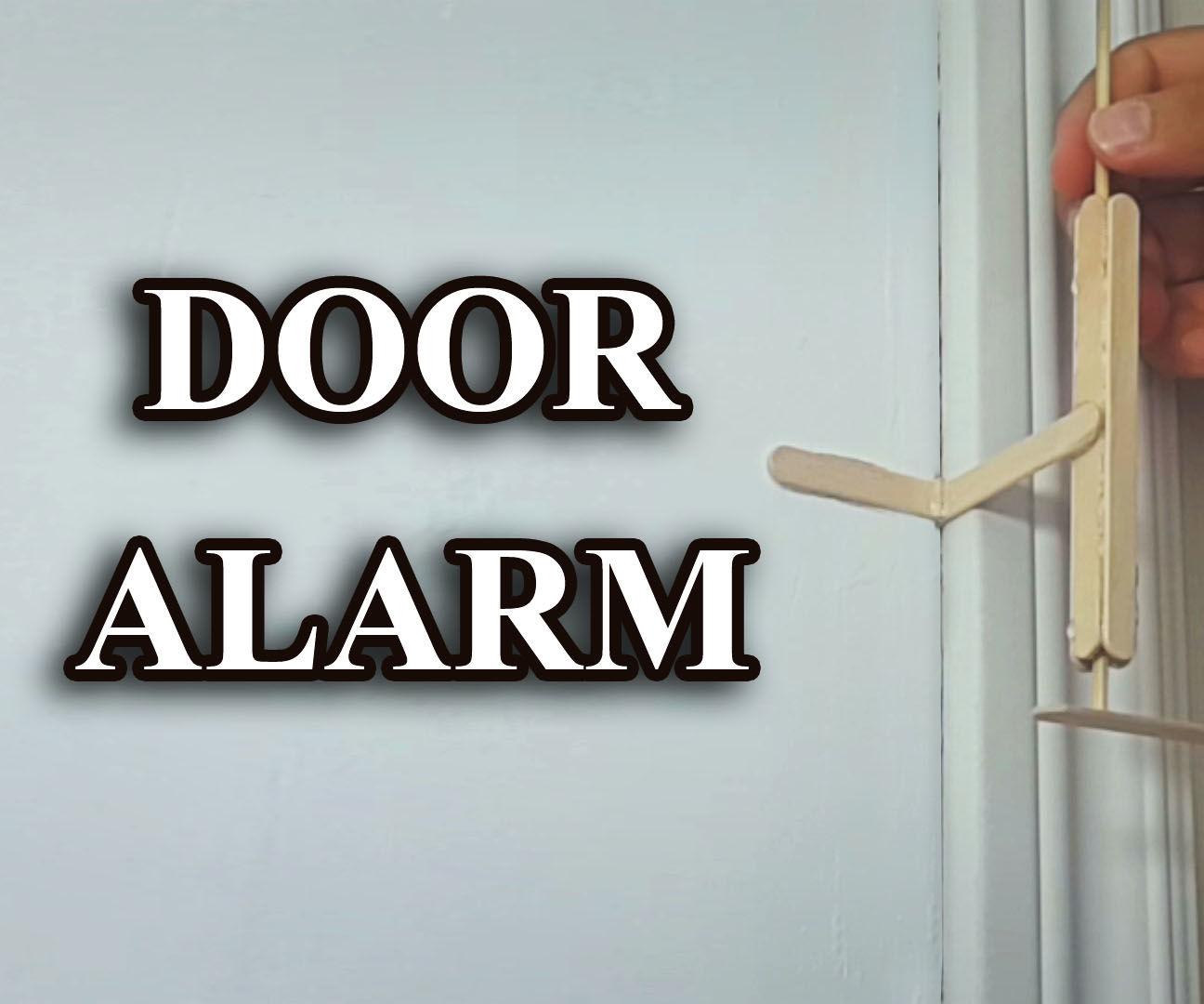 Explosive anti theft door alarm