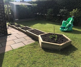Multi Tiered Wooden Garden Vegetable Planter
