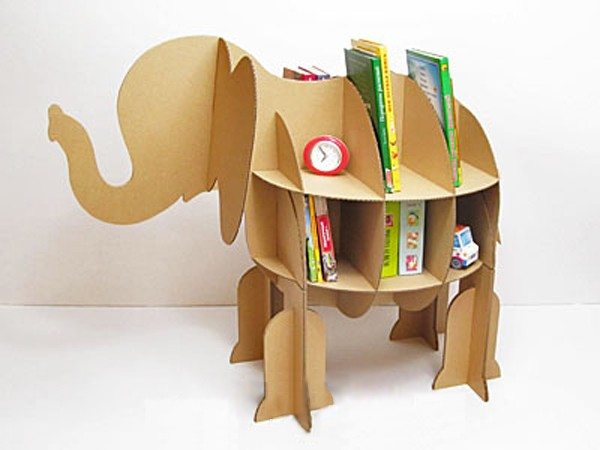 Handmade Book shelf in Elephant shape