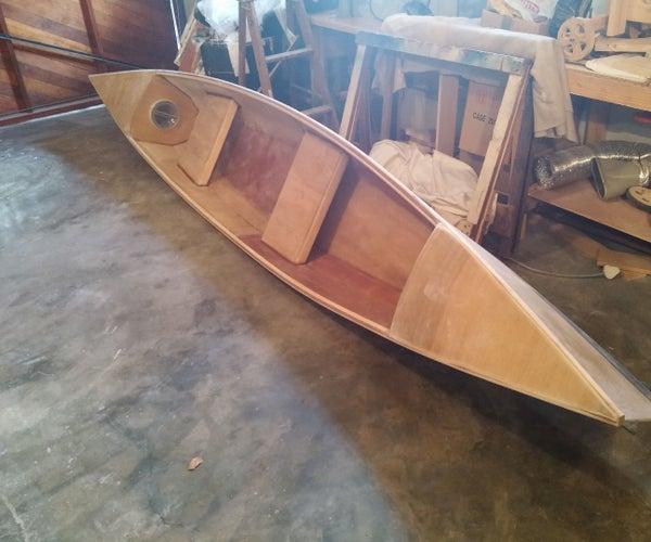 Stich & Glue Plywood Canoe