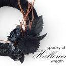 Spooky chic Halloween wreath
