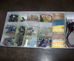 Homemade Electronic Components Organizer