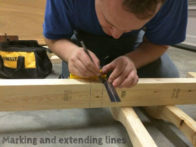 Mark Bolt Holes and Swing Seat Support Attachment Points on Baseboards.