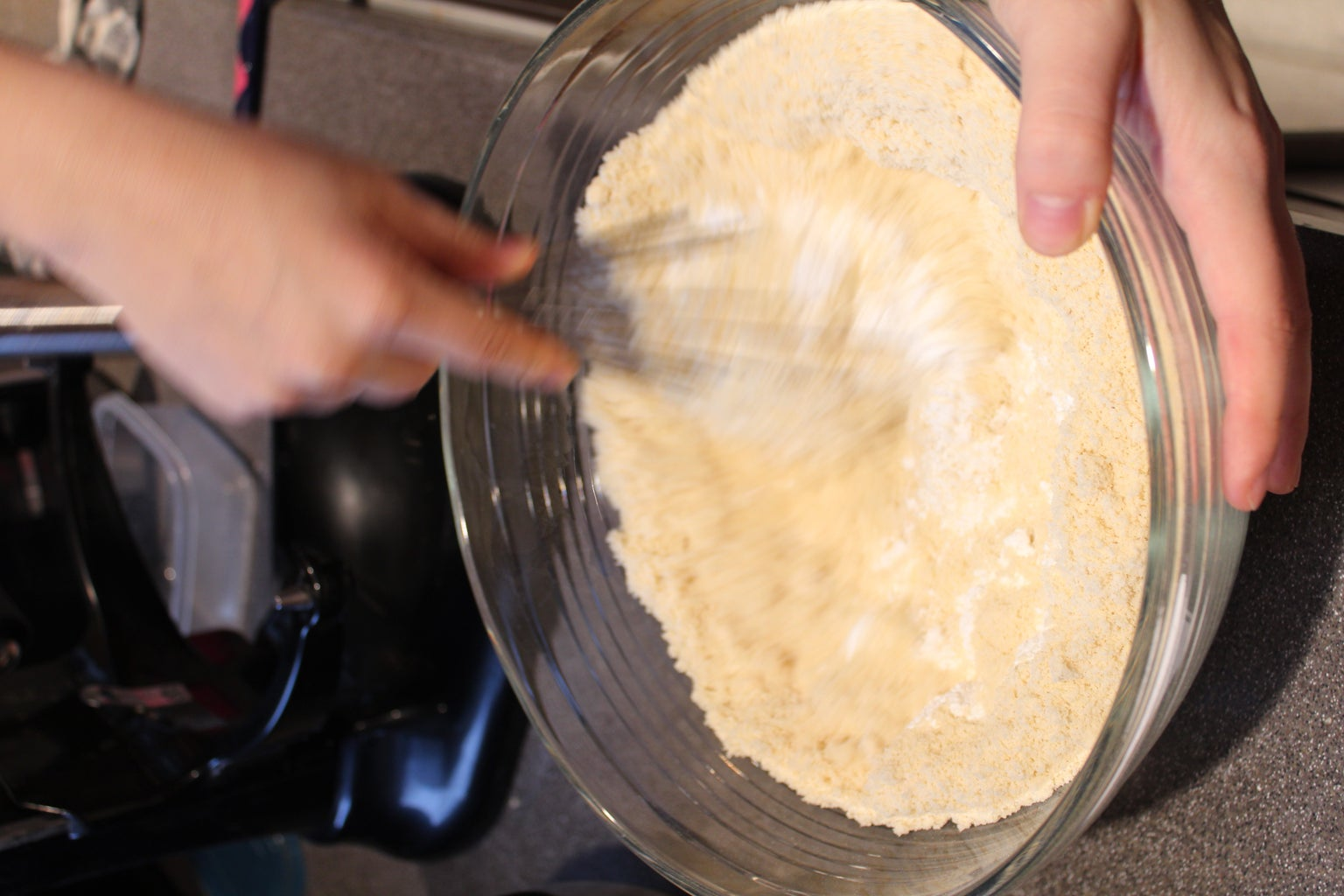 Mixing Powdered Sugar and Almond Flour
