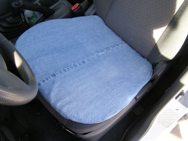 Cool & Comfy Recycled Blue Jean Car Cushion