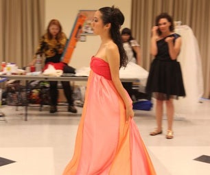 Gown Inspired by Hanbok Dress and Coral Reefs