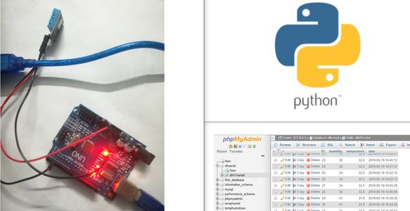 Arduino Is Sending Dht11 Data to MySQL Server(PHPMYADMIN) Using Python