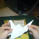 Flying origami crane.