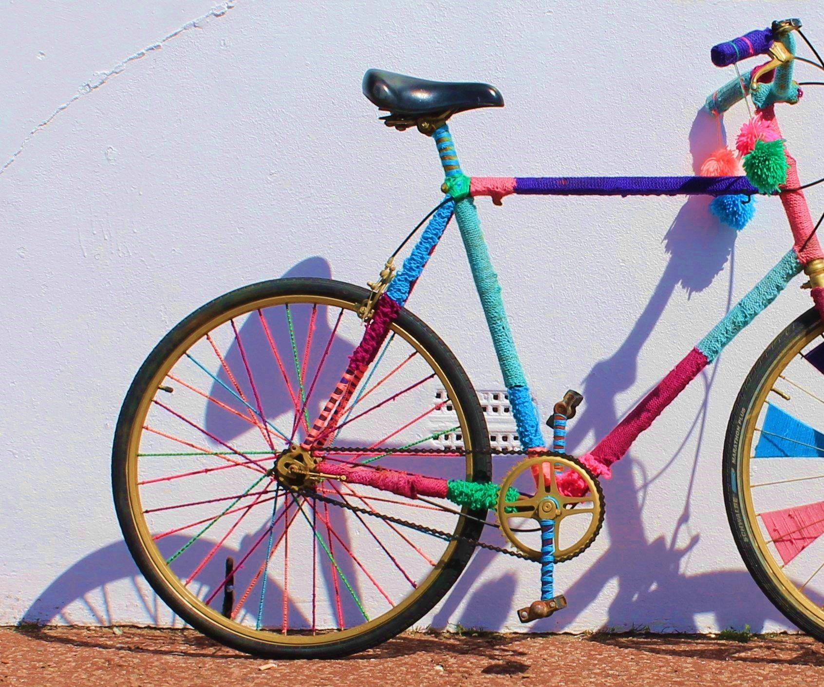 Yarn- Bomb Bike!